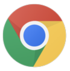 Google Chrome icons, blue circle in the center with red, green, and yellow coloring surrounding